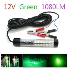 12V LED Green Underwater Fishing Light Lamp 1080 Lumens Fishing Boat Night Light