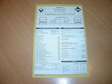 Fiche technique l'Expert automobile Renault Scénic moteur Turbo D 1870 cc 1997