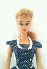 Vintage style handmade barbie fashion doll dress shoes necklace lot
