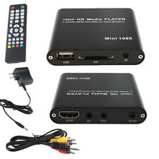 Mini USB SD MTK AV PORT 1080P TV HD Digital Media Player MKV/RM-SD/USB HDD-HDMI