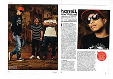 COUPURE DE PRESSE CLIPPING 094  2008 PHARELL WILLIAMS  (3 pages)