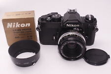 [Exc+++++] Nikon FM 35mm SLR Film Camera with 50mm 2 lens Kit, HS-2  Japan