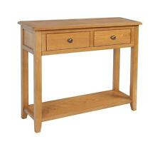 OXFORD SOLID RUSTIC OAK LARGE TELEPHONE LAMP HALL CONSOLE TABLE UNIT