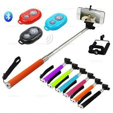 Extendable Selfie Stick Monopad & Wireless Remote For iPhone 5 / iphone 5S / 5C
