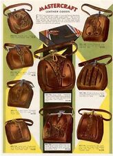 LEATHER GOODS 3 OLD PAGES OF 1930 CATALOG * FREE USA POSTAGE, **ON SALE**  AD474