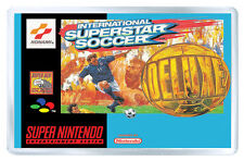 INTERNATIONAL SUPERSTAR SOCCER DELUXE SNES FRIDGE MAGNET IMAN NEVERA