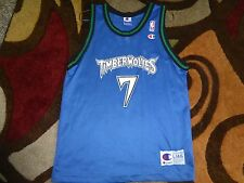 Vtg Terrell Brandon Minnesota Timberwolves Champion NBA Jersey Sz Youth L 14-16