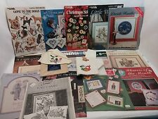20 PC Lot Counted Cross Stitch Patterns & More Christmas Dogs School Weddings