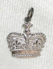 NOS NOC Vintage Griffith Sterling Silver Crown Charm Perfect for Your Queen Mum!