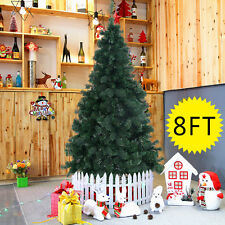 8Ft Artificial PVC Christmas Tree W/Stand Holiday Season Indoor Outdoor Gre