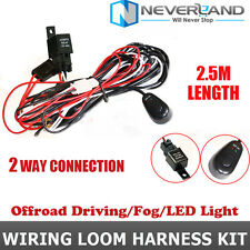 1X 40A Wiring Harness Kit Loom LED Light Bar Laser Rocker Switch For Two lights