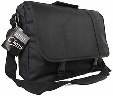 New Black Messenger Satchel Briefcase Pilot Casual Travel College School Bag