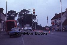 EKTACHROME 35mm Slide France? Old Cars Trucks Chevron Gas Station People 1971!!!