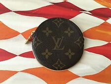 Authentic Louis Vuitton Monogram Rond Porte Monnaie Coin Purse Wallet HTF