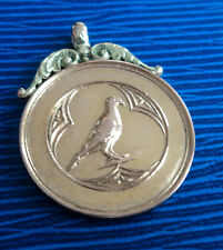 Super 9ct Rose & Yellow Gold  Pigeon Fob Medal / Pendant  1924 Birmingham