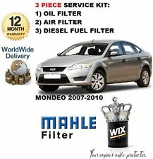 FOR FORD MONDEO 2.0 TDCi 6/2007-3/2010  SERVICE KIT OIL AIR FUEL FILTER KIT
