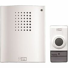 HPM D642/01 DOOR BELL CHIME 16 Tunes Batteries Incl Wireless Operation - White