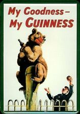 Guinness Bear Blechpostkarte Blechschild Metal Tin Post Card Sign 10 x 14 cm