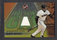 Barry Bonds 2002 Topps Pristine In the Gap Game Worn Jersey Card