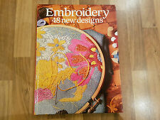 Embroidery 48 New Designs Hardback Book (1985)