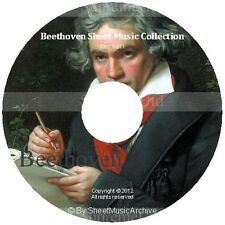 Massive Professional Beethoven Sheet Music Collection Archive Library on DVD