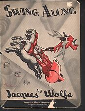 Swing Along 1934 Jacques Wolfe Sheet Music