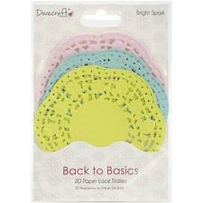 30 Paper Lace Doilies (Pink, Blue, Lime Green), Bright Spark, Back to Basics