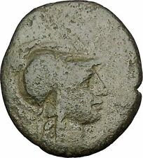 PERGAMON in MYSIA 133BC Athena Trophy Helmet Authentic Ancient Greek Coin i51995
