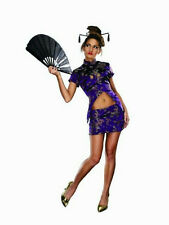 Women's Fortune Cookie Chinese Sexy Geisha Adult Costume Size S/M