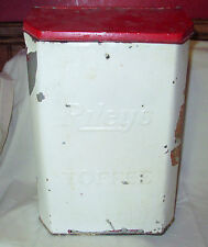 ANTIQUE GENERAL STORE RILEY'S TOFFEE ADVERTISING COUNTERTOP TIN DISPLAY COUNTRY