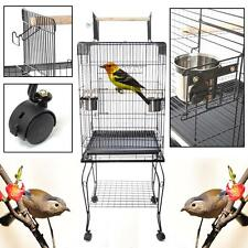 57 ′ ′ bird cage pet parrot perruche Canary volière Macaw toit ouvert large 2 mangeoires