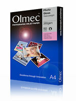 Olmec 260gsm Photo Glossy Inkjet Paper A4/50 Sheets OLM60A4