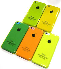 Neon Green Transparent Air Jacket Slim Hard Faceplate Case Cover ~ iPhone 5C
