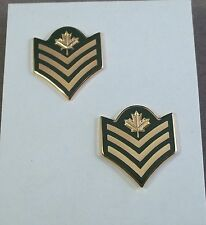 Canada / Canadian Forces Sergeant Rank Insignia Pair / Long Shank