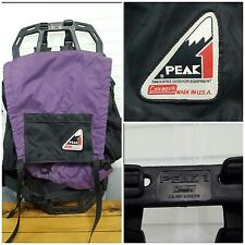 Coleman Peak 1 External Frame Pack Backpack Purple Black Hiking Lightweight Ram