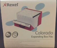 -- Rexel Colorado Expanding Box File. Blue. CHEAPEST and FREEPOST!!!!! --