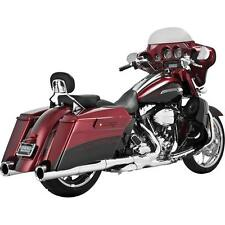 Vance and Hines Power Duals Head Pipes Chrome for Harley 10-14 (16849)
