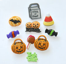 Trick or Treat Buttons / Candy - Pumpkins & Words ~ Treat Bag / Buttons Galore