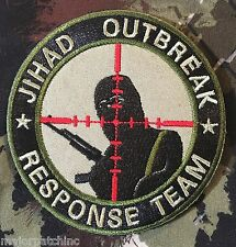JIHAD OUTBREAK RESPONSE TEAM INFIDEL ARMY MULTICAM VELCRO® BRAND FASTENER PATCH