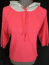 Autumn Cashmere XS S Coral Gray 100% Cashmere Hoodie Sweater High Low Hi Lo
