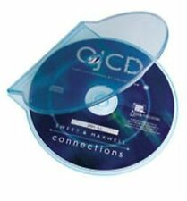 20 Clear Blue Clam Shell Plastic High Quality Single Case CD DVD Disk Storage