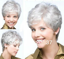 New wig Heat Resistant Cosplay Fashion Curly Short Silver Gray Hair Women Wig
