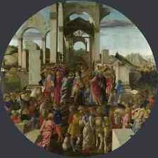 Sandro Botticelli la adoración de los Reyes A4 impresión