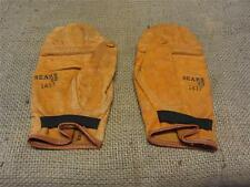 RARE Vintage Sears Leather Boxing Sparring Gloves   Antique Old Box Bag 8287