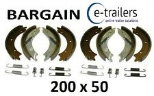 "BARGAIN 2 AXLE SET 200x50 KNOTT TYPE BRAKE SHOES FOR 8"" DRUM - IFOR WILLIAMS"