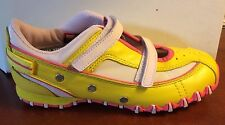 NEW Vintage Yellow Pink  Leather  Summer Sneakers by Diesel Toddler Girls SZ 8