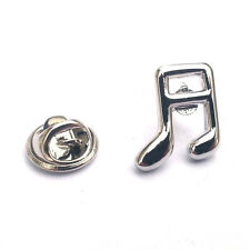 Silver Quaver Note Lapel Pin Badge Music Musical Notes Instruments Badges New