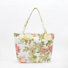 NEW Shabby Chic Yellow Pink Peony cotton Shopper Tote Beach Bag, Knitting Bag