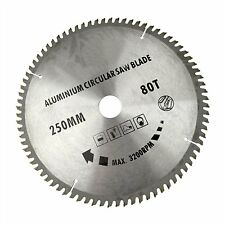 250mm x 30mm TCT Saw blade 80T / Teeth for aluminium cutting Circular saw blade