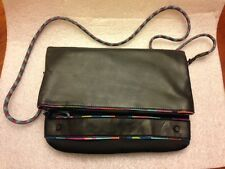 Nixon Watches Neoprene Clutch Womens Black Satchel Flat Purse New Without Tags